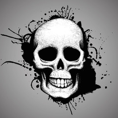 Skull and grunge stains