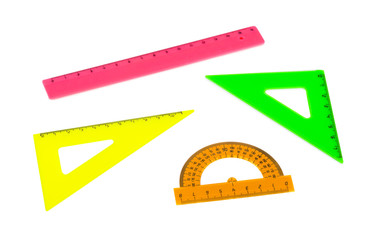 Multicolored rulers