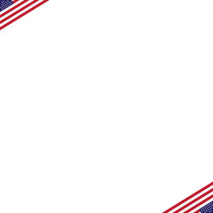 American Independence Day Patriotic background. Vector Flat desi