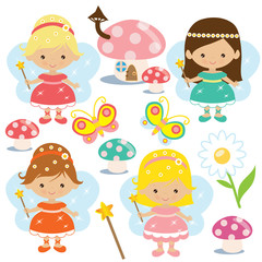 Cute fairy vector illustration