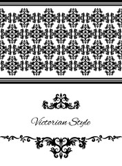 Pattern victorian style background vintage vector