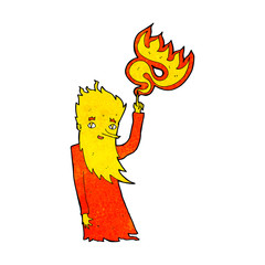 cartoon fire spirit