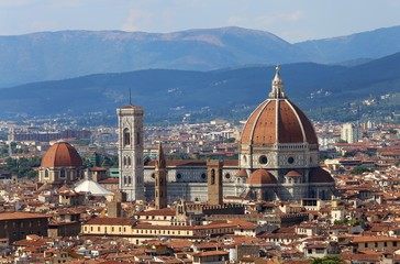 Fotobehang Florence Panorama of the city of FLORENCE in Italy