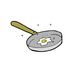 cartoon fried egg
