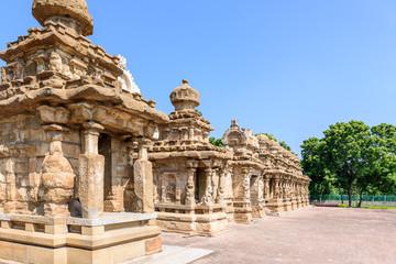 Frontal view Hindu temple Kanchipuram
