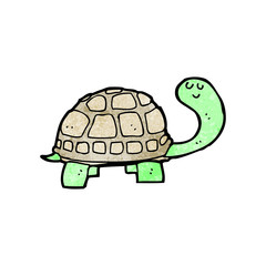 cartoon happy tortoise
