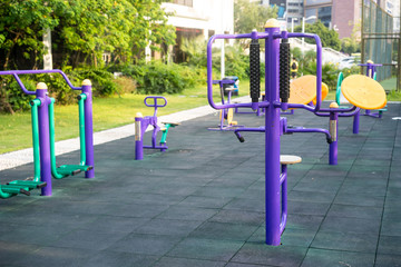 exercise facilities in a park