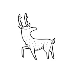 line drawing cartoon  stag