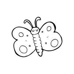 line drawing cartoon  butterfly