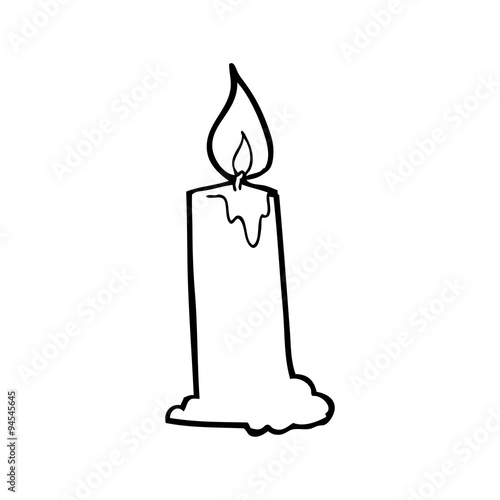 """""""line drawing cartoon candle"""" Stock image and royalty-free ..."""