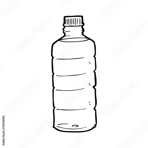 line drawing cartoon water bottle stock image and royalty free