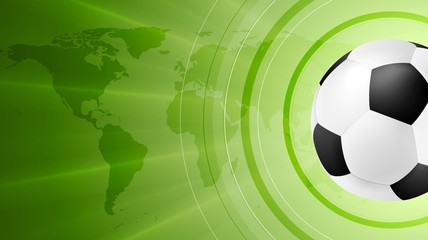 Green anstract soccer sport background with ball