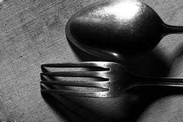 Vintage cutlery macro