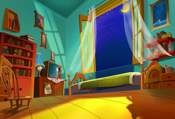 Illustration: Sweet Room - Something beautiful is going to happen in this summer night. - Fantastic Style