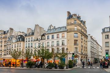 Rue Saint Antoine à Paris, France