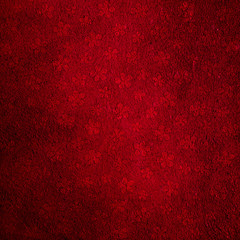 Decorative floral textured red background