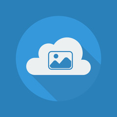 Cloud Computing Flat Icon. Photos