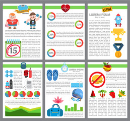 Infographic healthy lifestyle, workout, sport
