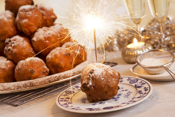 Dutch New Year's Eve with oliebollen, a traditional pastry