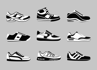 Wall Mural - Sneakers icons