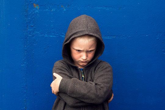 abused aggressive boy