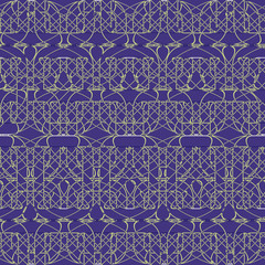 intersected mosaic seamless pattern