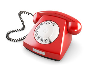 Rotary phone. 3d