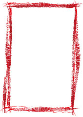 roter Rahmen hochkant