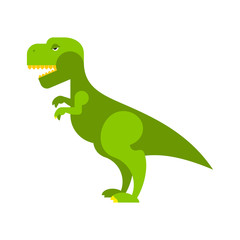 Dinosaur Tyrannosaurus. Angry ancient Predator. Big Reptile Jura