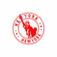 Vector New York Rubber Stamp
