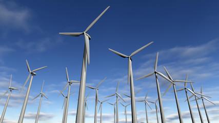 Wind turbines park or windfarm