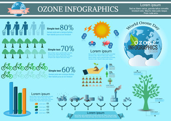 Collection Ozone of infographic  elements .Vector