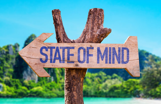 State of Mind arrow with beach background
