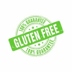 Vector Gluten Free 100% Guarantee stamp