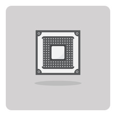 Vector of flat icon, cpu socket for computer on isolated background