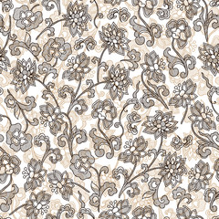 wallpaper seamless vintage flower pattern