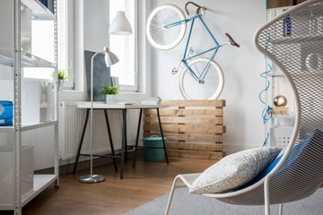 Light minimalist studio flat