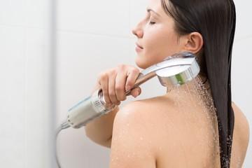 Female doing body water massage
