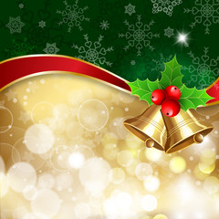"""Christmas background with decor and handwritten text """"Merry Christmas"""". illustration for  posters, icons, greeting cards, print and web projects."""