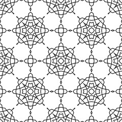 Vector black and white pattern with geometric details