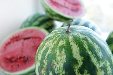 Watermelons closeup