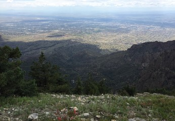 Albuquerque from a Mountain
