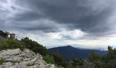 Stormy View from a Mountain