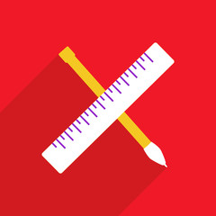 Web icons modern design for mobile shadow pen ruler