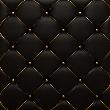 The gold leather texture of the quilted skin
