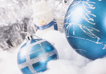 New Year's ornaments snowman