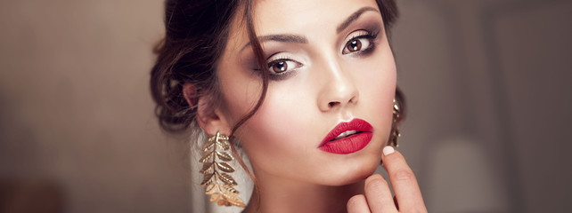 Beauty portrait of elegant young woman.