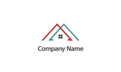 roof house construction company logo