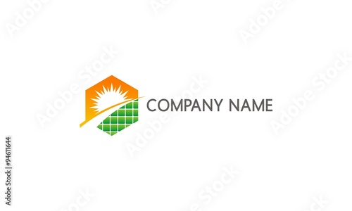 Quot Solar Panel Sun Energy Company Logo Quot Stock Image And