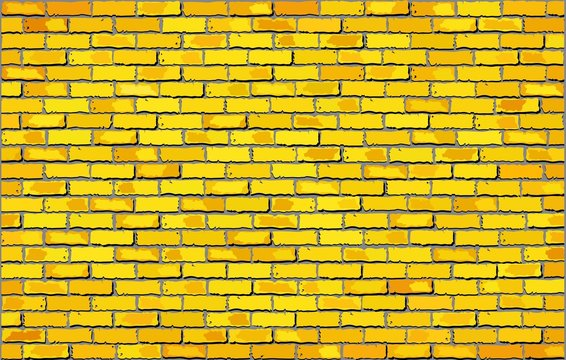 Yellow brick wall,  Retro yellow brick wall vector,  Seamless realistic white brick wall,  Brick wall background,  Abstract vector illustration